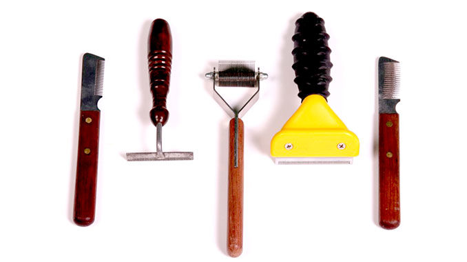Уход за собачьей шерстью - инструменты