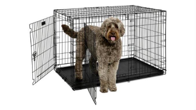 Металлическая клетка для собаки фото